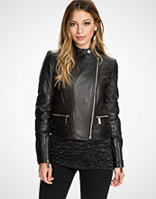 Michael Kors Quilted Panel Moto