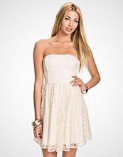 John Zack Hvit Lace Bandeau Dress