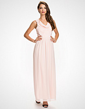 Elise Ryan Nude Maxi Cowl Dress