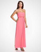 Elise Ryan Coral Lace Trim Bandeau Maxi Dress