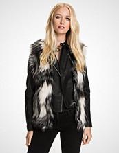 Miss Selfridge Patchwork Faux Fur Gilet