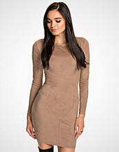 NLY Trend Beige Suede Dress