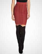 Glamorous Ribbed Midi Skirt