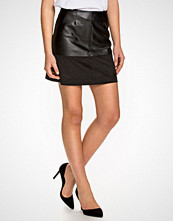 New Look Suedette Mix A-Line Skirt