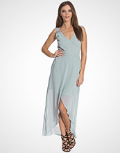 Elise Ryan Maxi Trim Wrap Dress