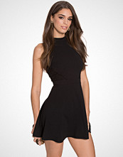 New Look Lace Panel Skater Dress