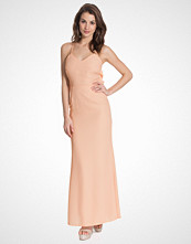 Elise Ryan Maxi Drape Back Sequin Lace Insert Dress
