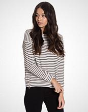 New Look Ribbed Stripe Zip Side Sweater