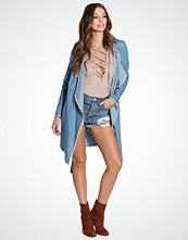 First And I FITRUCKER DENIM TRENCHCOAT
