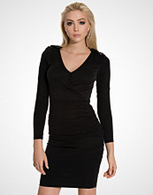 Lipsy Black Rouched Dress
