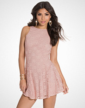 John Zack Round Back Waist Detaileded Skater Dress