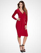Club L Red Slinky Knot Midi Dress