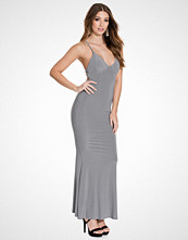 Club L Grey Cami Slinky Rouched Back Dress