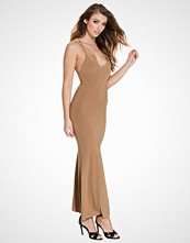 Club L Camel Cami Slinky Rouched Back Dress
