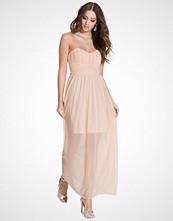 Miss Selfridge Light Pink Bandeau Maxi Dress