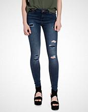Miss Selfridge Dark Wash Rip and Repair Jeans