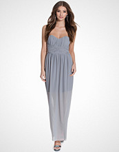 Miss Selfridge Grey Bandeau Maxi Dress