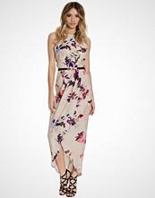Little Mistress Flower Waist Maxi Dress