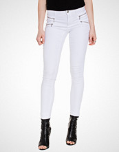 Only onlROYAL REG SKINNY ZIP JEANS WHITE