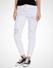Only onlLIMA ANKLE BOYF DNM JEANS CRE WH