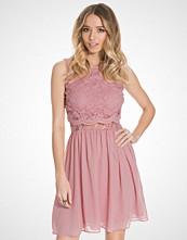 Elise Ryan Short Lace Over Top Chiffon Dress