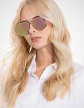 NLY Accessories Rose Gold/ Pink Pilot Sunglasses