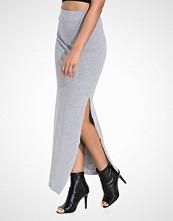 Vila Light Grey Melange Vihonesty New Maxi Slit Skirt