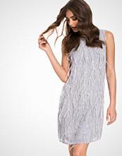 Miss Selfridge Grey Emellished Feather Shift Dress