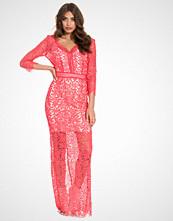 Little Mistress L/S Crochet Maxi Dress