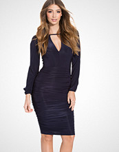 Ax Paris Open Sleeved Rouched Bodycon