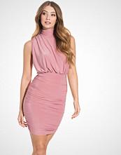 Club L High Neck Detailed Puffball Dress