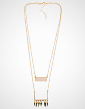 NLY Accessories Spike Stone Row Necklace