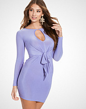 Club L L/S Detailed Knot Tie Up Front Dress