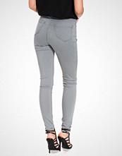 Miss Selfridge Steffi Grey Super High Waist Jeans