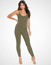 NLY One Khaki Cami Crepe Jumpsuit