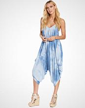 New Look Blue Tie Dye Harem Jumpsuit