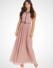 Little Mistress Sheer Embellished Maxi Dress