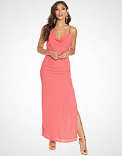 Elise Ryan Drape Front Embellished Maxi Dress