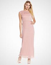 Club L Metallic Pleated Maxi Dress
