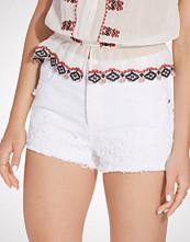 Miss Selfridge White Crochet Hem Denim Short