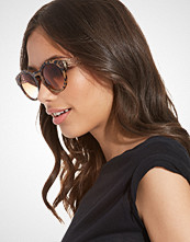 NLY Accessories Leopard Round Sunglasses
