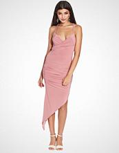 Club L Wrap Front Asymmetric Slinky Dress