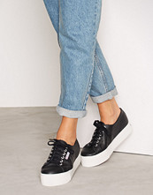 Superga Svart 2790 FGLU Leather