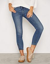 Vero Moda Blå Vmfive Lw Ss Ankle Jeans AM057 Noos