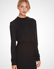 Filippa K Crepe Button Jersey Top