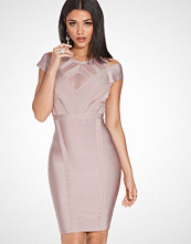 Wow Couture Crew Neck Bodycon Lace Dress