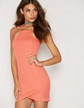 Ax Paris Coral Wrap Front Dress