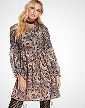 For Love & Lemons Gracie Shirred Mini Dress