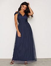 Little Mistress Navy V-neck Maxi Dress