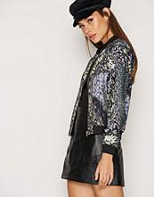Miss Selfridge Floral Print Bomber Jacket